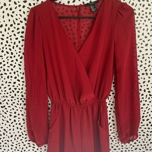 Red Forever 22 Romper - Small